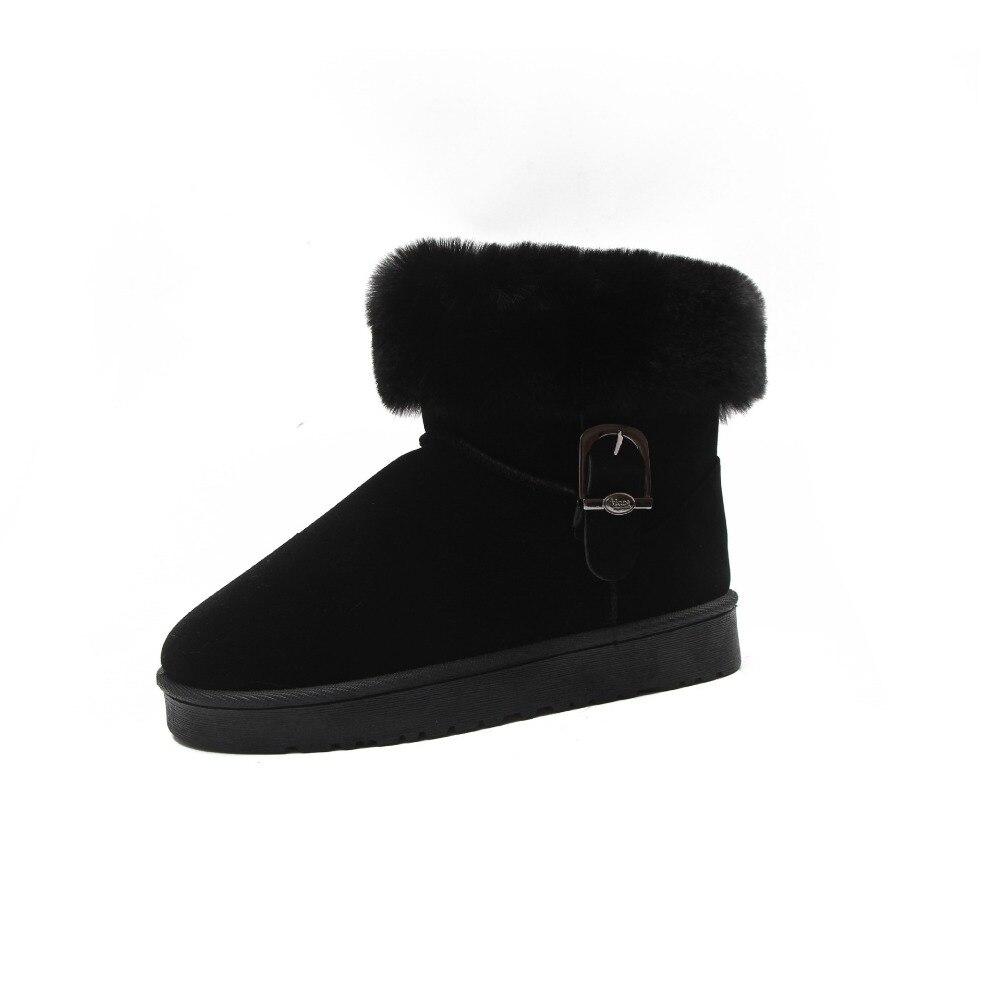 Fourrure Chaussures Neige Bottes Femmes Chaud Cheville Dames Mode De Haute D'hiver Cuir Femme Qualité Naturel Femelle Noir gris marron Nouveau En Renard wm80nvN