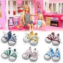 Hot Sale 7.5cm Canvas Shoes For 1/3 BJD Doll Fashion Mini Russian DIY Handmade Accessories