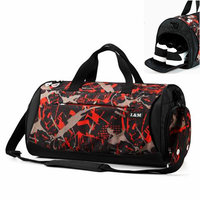 Comouflage large capacity swimming gym bags wet dry separation sports bags oxford waterproof beach travel bag fitness handbag