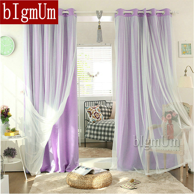 Grommet Top Lace Curtains Solid Blackout Drapes Elegant Fairy Curtains with Rings Ready Made Window Treatment Custom made