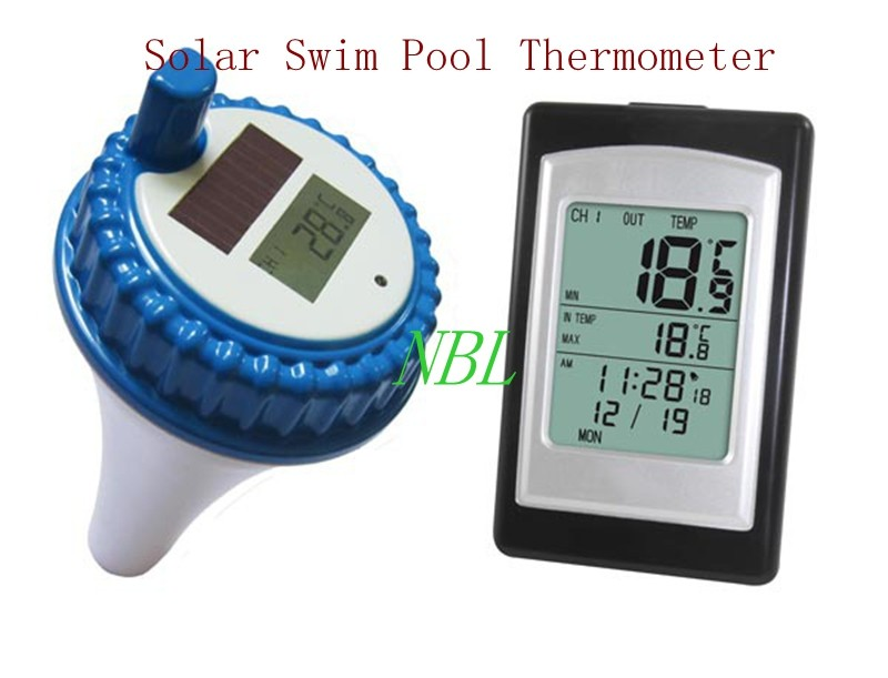 Professional digital wireless swimming pool spa floating - Swimming pool water temperature gauge ...