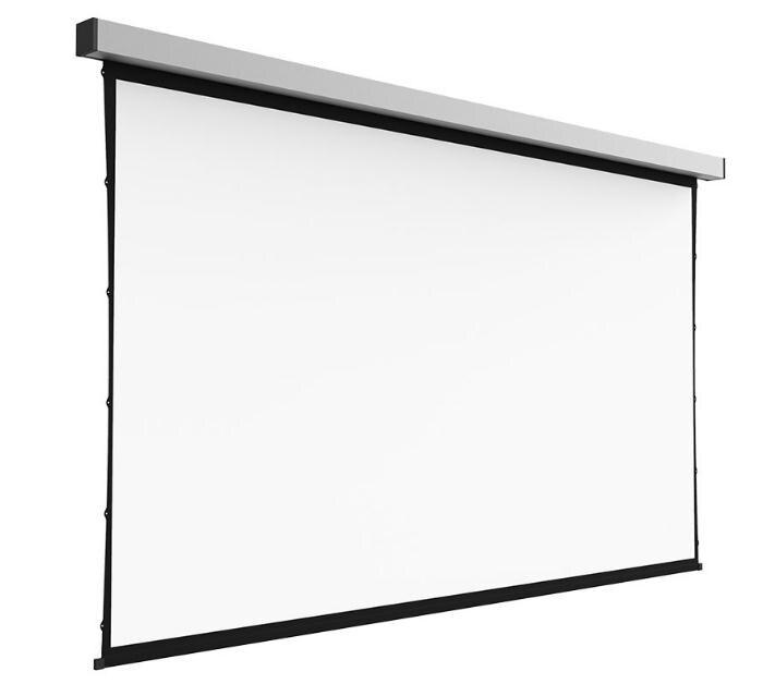 110 Inch 16:9 Hdtv Vierkante Elektrische Tab Gespannen Projectiescherm Met Cinema Wit