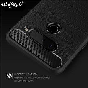 WolfRule For Cases LG V40 Cover Shockproof Soft TPU Brushed Back Case For LG V40 Cover For LGV40 V 40 Fundas Shell