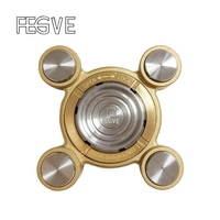FEGVE Flying Air Tiger Fingers Fidget Spinner Metal Hand Spinner Finger EDC Tri Spinner Stress Handspinner