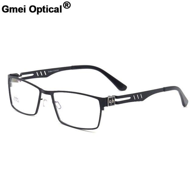 e8dd44a75b Gmei Optical Simplicity Titanium Alloy Full Rim Optical Eyeglasses Frames  Prescription Frame For Men and Women