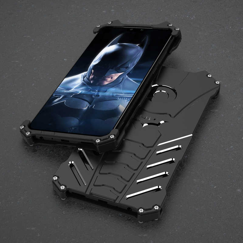 Luxury Aluminum Metal Case For Huawei Y9 2019 Back Cover Batman Element Hard Protection Cover For Huawei Y9 2019 Shockproof Case