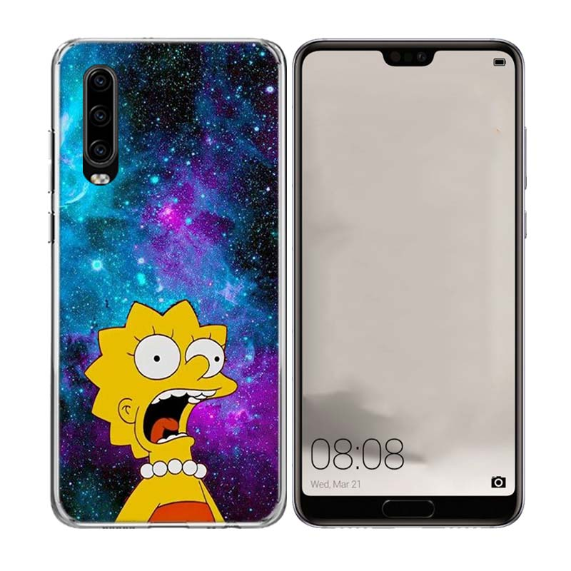 Bart Simpson Fantasy TPU Silicone Phone Case For Huawei Mate 10 20 Pro Lite 20X S RS Y5 Y6 Y7 Y9 2019 Prime Art Customized Cases in Half wrapped Cases from Cellphones Telecommunications