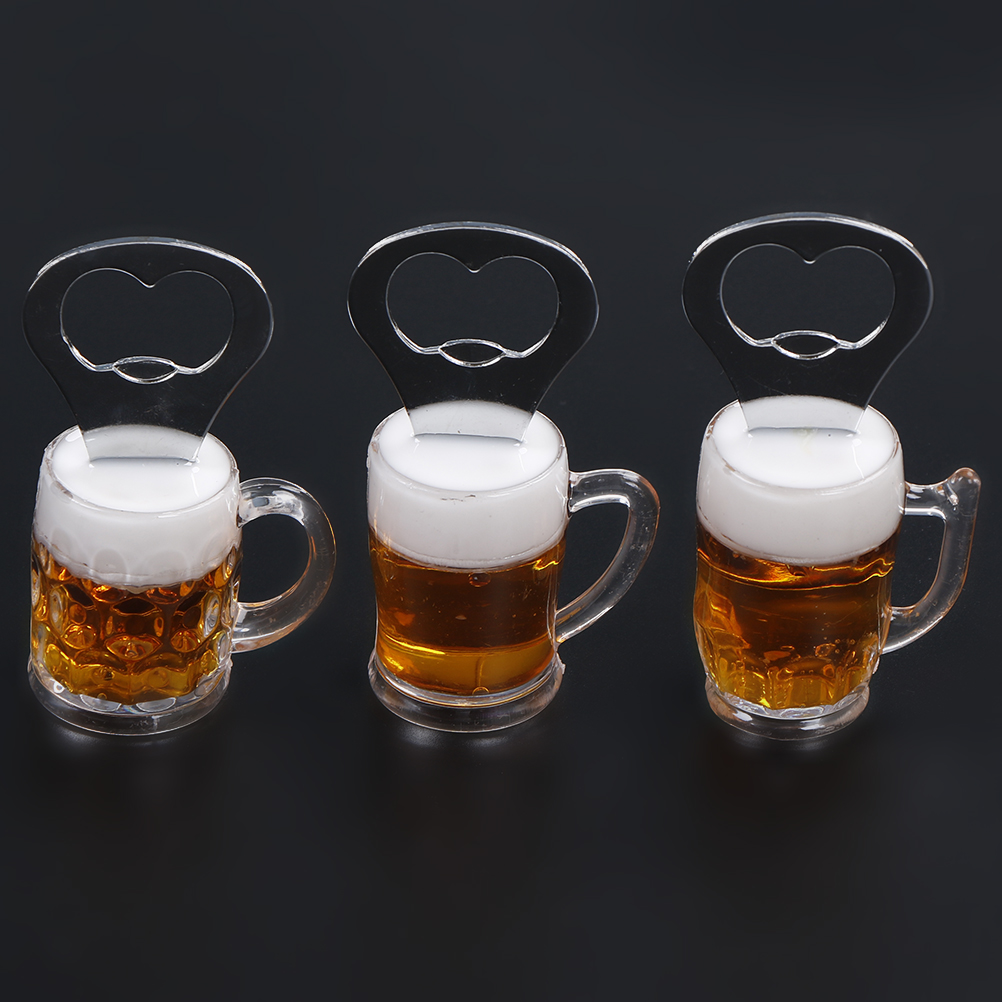 Beer cup shape fridge magnet beer bottle opener for kitchen bar party supplies - Fridge magnet beer bottle opener ...