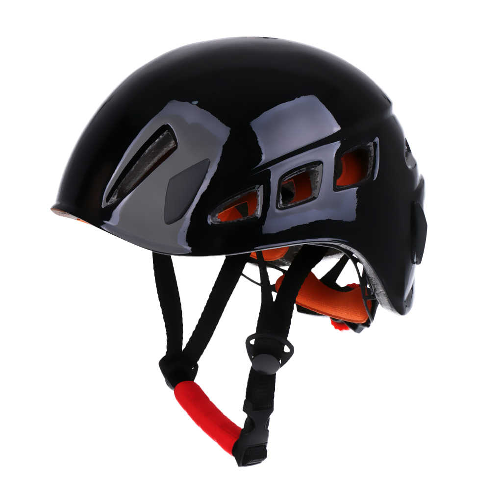 Pro Rock Climbing Caving Rappelling   Safety Helmet Head Protector Blue