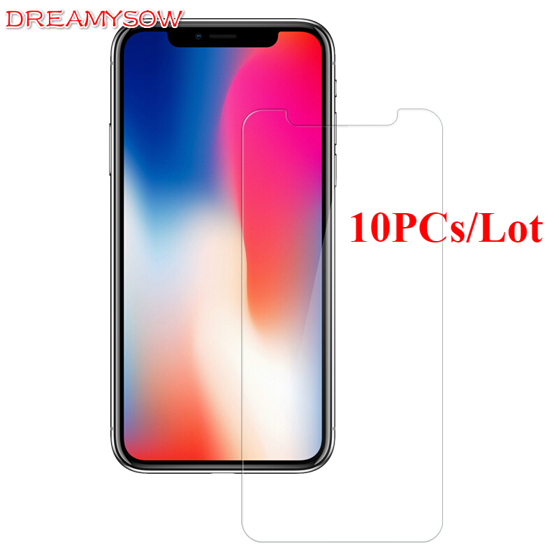10 Pcs/Lot 9H Premium Tempered Glass For iPhone X Ten 10 HD Screen Protecter Film For iPhone 6 6S 7 8 Plus 5 5S 5C SE 4 4S