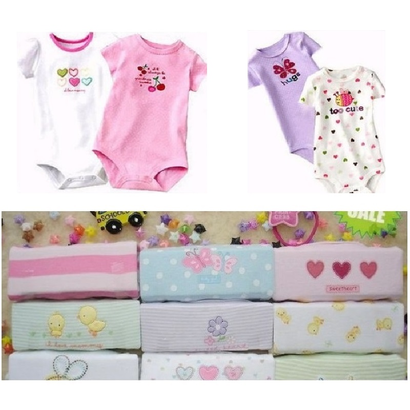 Hooyi Baby Bodysuits One-Pieces Short Sleeve body suit Newborn girl baby-clothes roupa de bebe Jumpsuits