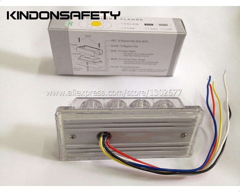 10 шт. FedEx! 8 Вт Автомобильный светодиодный Светодиодный светильник strobelight 8 светодиодный сигнальный фонарь 26 моделей вспышки DC12V Янтарный