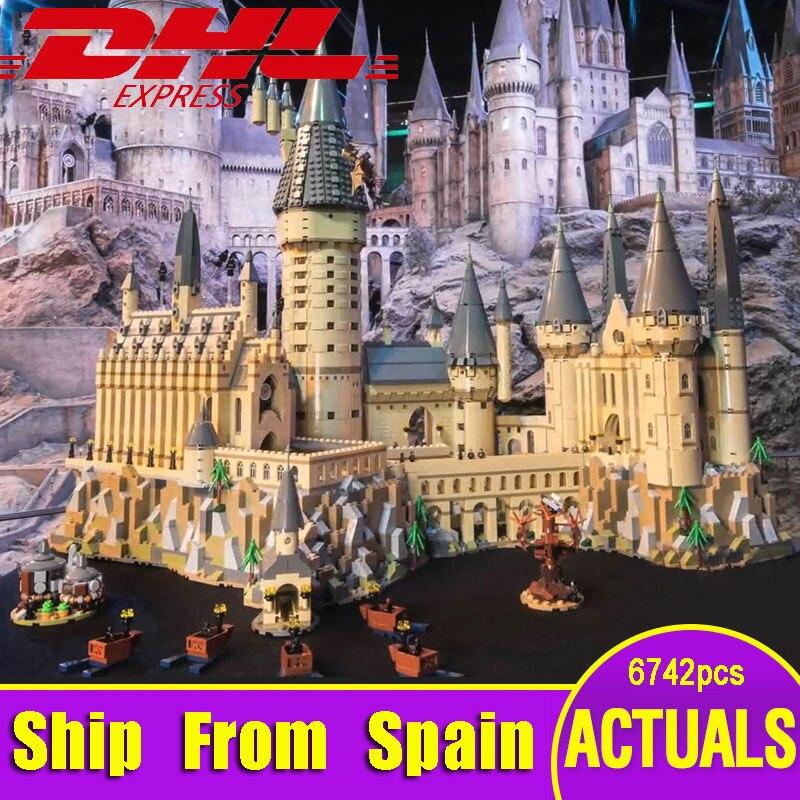 Nave Da Usa-Spagna Lepin 16060 Harry Serie di Film Il Legoinglys 71043 Hogwarts Castello Set di Blocchi di Costruzione di Mattoni Modello di Casa Giocattoli