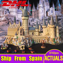 Ship From Spain Lepin 16060 Harry Movie Series The Legoinglys 71043 Hogwarts Castle Set Building Blocks Bricks House Model Toys(China)