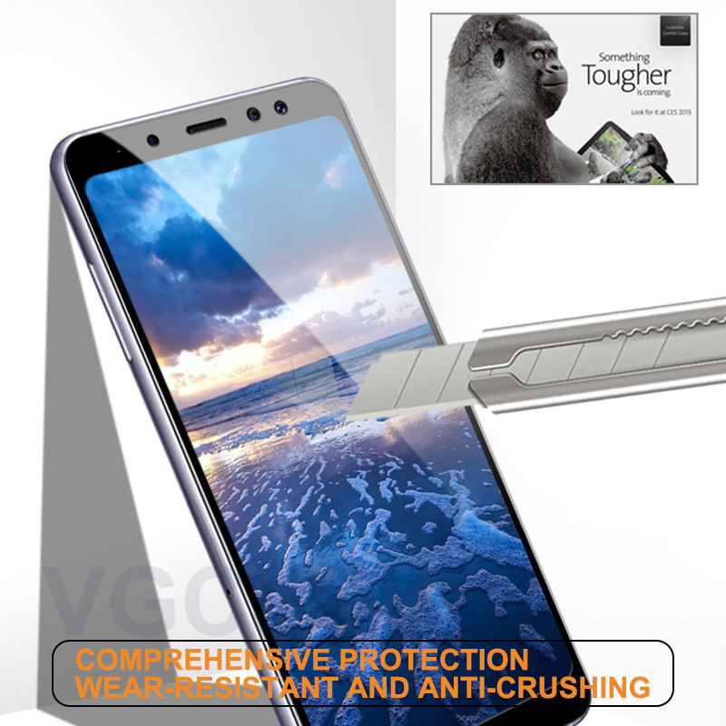 Full Cover Protective Glass on the For Samsung Galaxy A3 A5 A7 2016 2017 A5 A7 A6 A8 Plus 2018 Tempered Screen Protector Glass