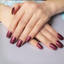 12 Color Options Matte Acrylic False Nails Tips Candy Lady Fake Nail Simple Design Full Nail Tips 24Pcs