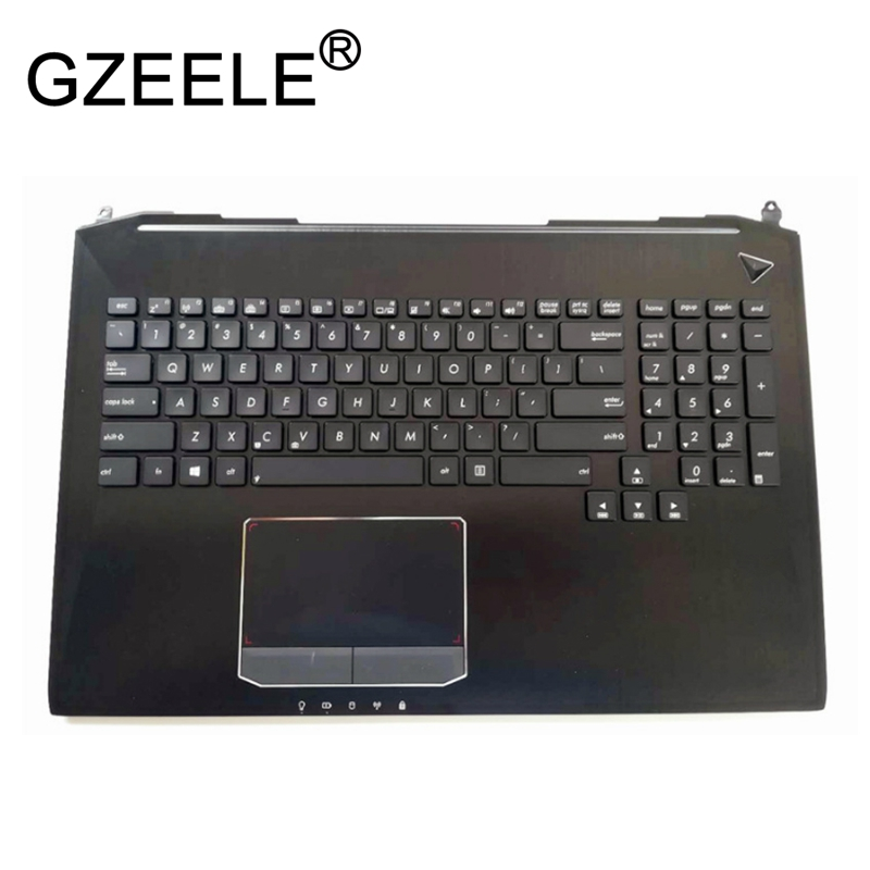 GZEELE Новинка для Asus G750 G750JX G750JW G750JH G750JM английская клавиатура для ноутбука с подсветкой и Упор для рук верхний чехол Упор для рук