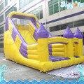Замок в Стиле Надувные Сухой Слайд с Двумя Полосами Движения для Детей
