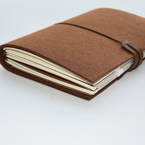 Image 3 - Maotu diario de bala de tela de fieltro Vintage, agenda para viajeros, planificador de bocetos, regalo creativo hecho a mano