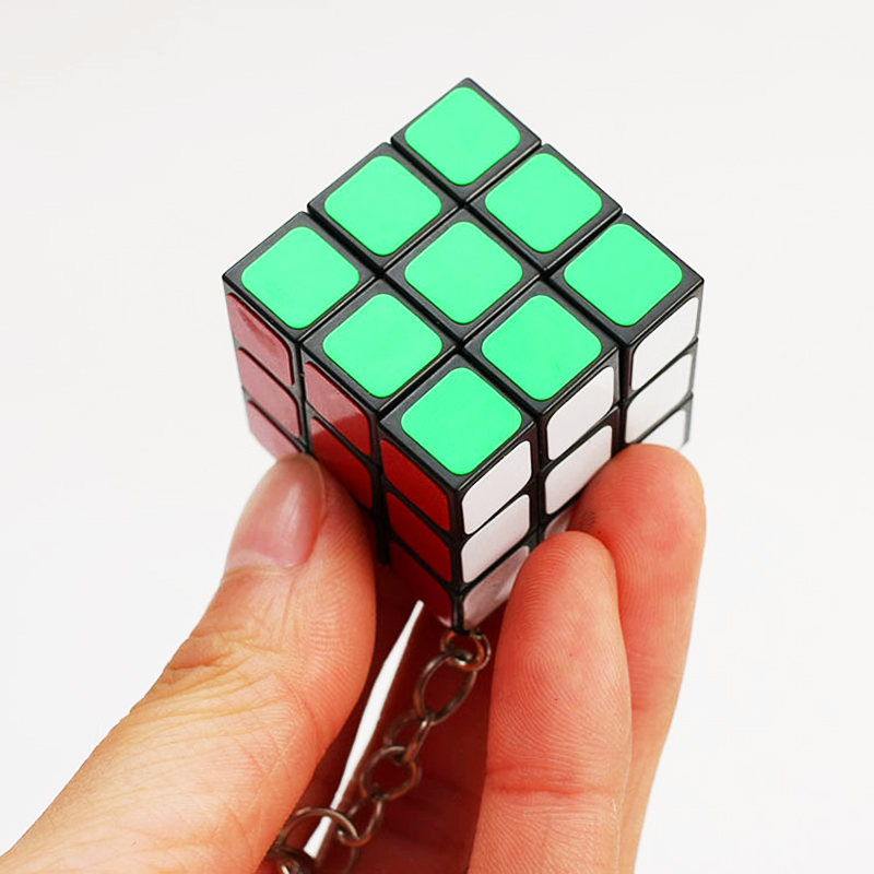3cm Mini Rubiks Cube Neo 3x3x3 Magic Anti-stress Toys Puzzles Speed Neo Cube Magico Fidget Educational Toy Keychain For Children enlightenment educational cube children toy