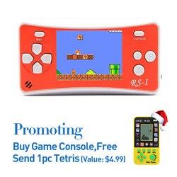 Livraison gratuite 2.5 pouces rétro jeu lecteur Portable intégré 152 jeux soutien AV câble TV sortie Portable Console de jeu pour cadeau