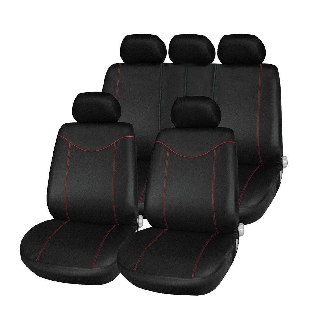 Универсальный автомобильный чехол для сиденья комплект 11 шт. Чехлы для сидений мотоциклов спинка переднего сиденья подголовник сиденья Кр... ...