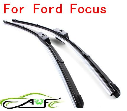 Free shipping car wiper blades for ford focus Soft Rubber WindShield Wiper Blade 2pcs/PAIR,deflector window wiper blades for ford focus mk3 international model 28