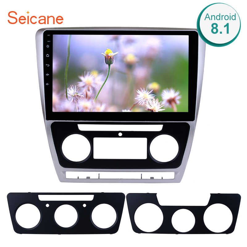 "Seicane 10.1 ""2Din Android 8.1 Mobil Radio Audio GPS WIFI Multimedia Player Head Unit untuk 2007-2014 VW volkswagen Skoda Octavia"