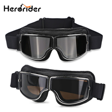 Windproof Motorcycle Vintage Goggles Moto Aviator Pilot Motorbike Goggles Retro Jet font b Helmet b font