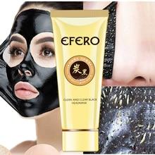 efero 1Pcs Blackhead Mask for Face Remover Black Masks Peeling Pore Strip Nose Acne Treatment Care