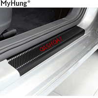 4 Pieces Carbon Fibre Scuff Plate Door Sill For Nissan Qashqai 2007 2008 2009 2010 2011