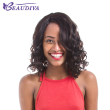 BEAUDIVA Custom Lace Wigs Natural Color Malaysian Remy Hair Lace Short Curly Human Hair Wigs For Black Women