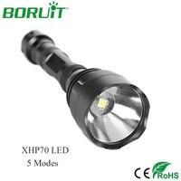 Boruit Aluminum Waterproof 3000LM CREE XHP70 LED Flashlight Super Bright Torch Light Military Shell
