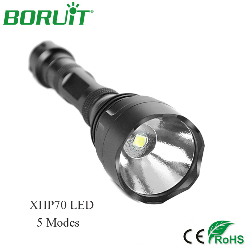 BORUiT High Power 30W XHP70 LED Flashlight 3000lm 5 Modes Portable Tactical Torch Light Waterproof Camping Hunting Lantern Lamp boruit high power 30w xhp70 led flashlight 3000lm 5 modes portable tactical torch light waterproof camping hunting lantern lamp