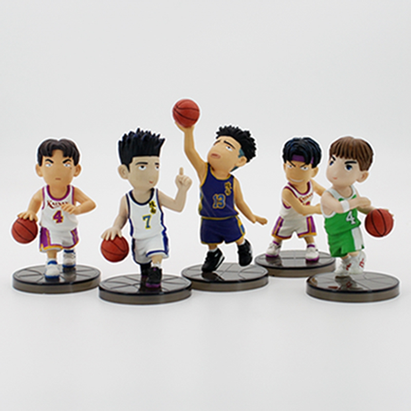Anime Slam Dunk PVC Action Figure Toys Doll in Color Box Kids Birthday Christmas Gifts 5pcs/lot