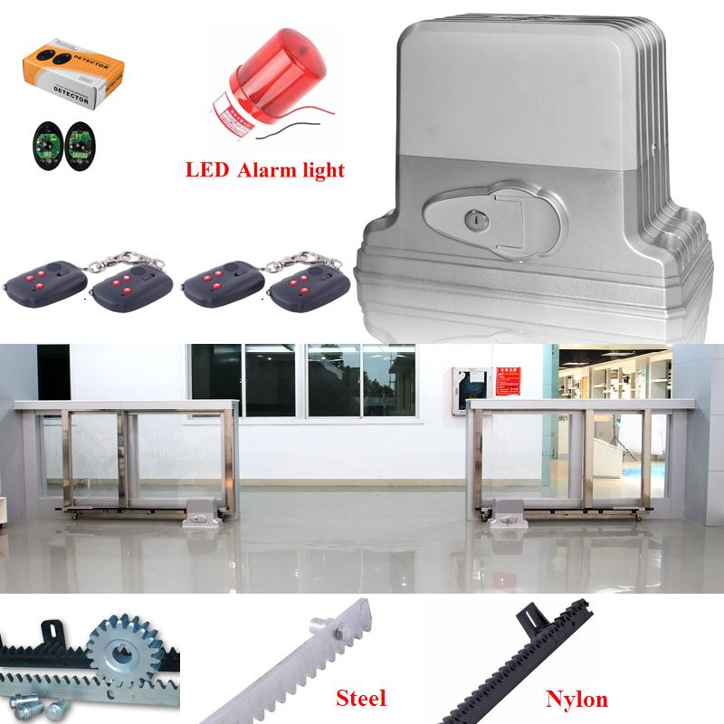 Automatic Sliding Electric Gate Opener 1800KG Automatic Motor Remote Kit Heavy Duty 6M TRACK infrared photocell alarm lamp automatic sliding gate opener for home automation 1000kg