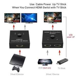 Image 4 - 4K UHD HDMI Splitter HDMI Switch Switcher 1X2 2X1 Split 1 in 2 Out Amplifier 1080P 4Kx2K HDMI Switcher 2 Ports Bi directional