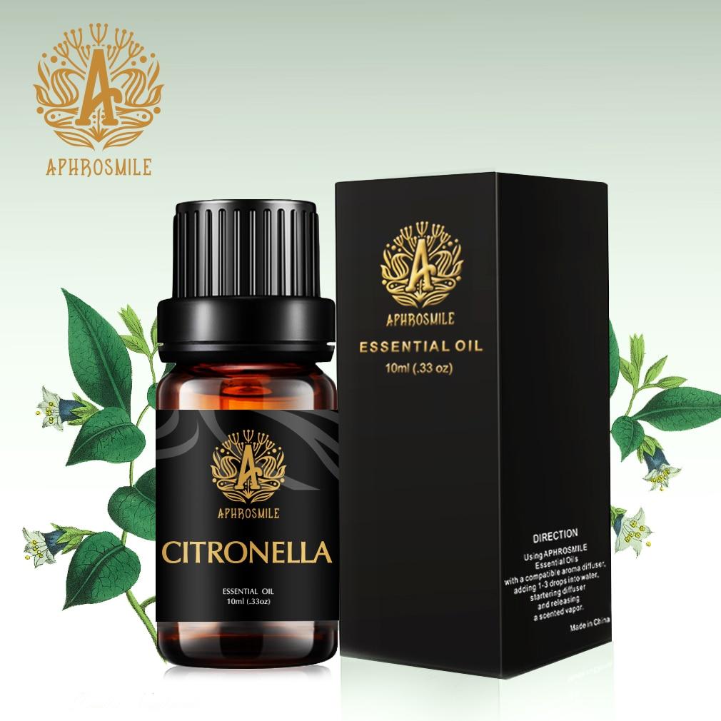 100% Natural Citronella Essential Oil 10ml Water-soluble Body Massage Oil Antimicrobial Remove Acne Plant Aromatherapy Oil