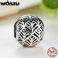 925 Sterling Silver Gold Plated Tropicana Palm Leaf Openwork Charm Fit Original Pandora Bracelet Bangle Authentic Jewelry Gift