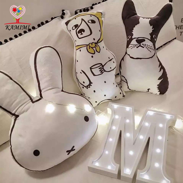Baby Pillow Toys bed sets Baby cotton toys Rabbit / dog / bear 3 colors Toy soft cotton Cute Stuffed Toy Children christmas gift