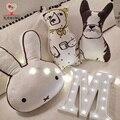 Bebé Juguetes Almohada juegos de cama de Bebé de algodón juguetes de Conejo/perro oso 3 colores Juguete suave de algodón Lindo Juguete de Peluche de regalo de navidad Para Niños