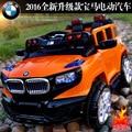 2016 caliente Paseo en coche eléctrico de Los Niños puede tener cuatro pares de conducir remoto Bluetooth coche de juguete cochecito de niño swing