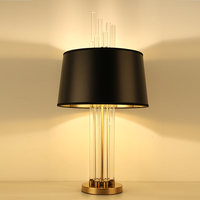 Nordic Postmodern Glass Bar Minimalist Black Lampshade Designer Villa Hotel Bedroom Study Room Decorative Desk Lamp