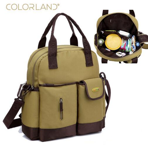 COLORLAND Diaper Bag Organizer Fashion Mummy Maternity Bag Large Baby Diaper Handbag Mom Backpack Messenger Changing Nappy Bags colorland brand baby stroller bag baby for mom diaper bag organizer nappy bags for pram maternity mother bags diaper backpack