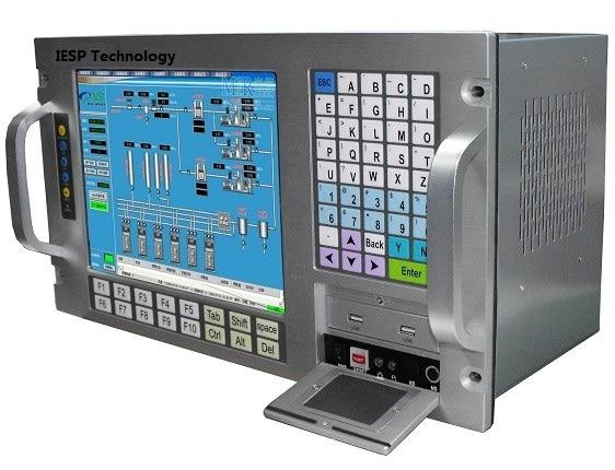 """עגלות פג 12.1"""" LCD, מסך מגע, P3 1.0GHz CPU, 512 MB זיכרון RAM, 160GB HDD, 4xPCI, 4xISA, Windows 98 / XP OS, Rack הרכבה תעשייתי Workstation (2)"""