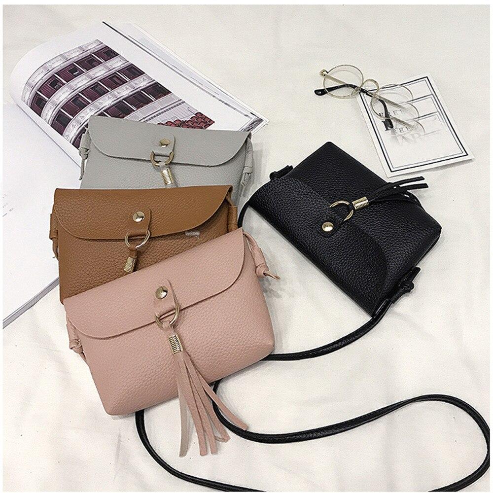 Able Bag Vintage Handbag Small Mini Messenger Tassel Shoulder Bags Crossbody Bag Carteras Mujer #30