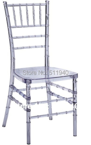4 pieces/lot PC plastic Chiavari bamboo wedding dining chairs
