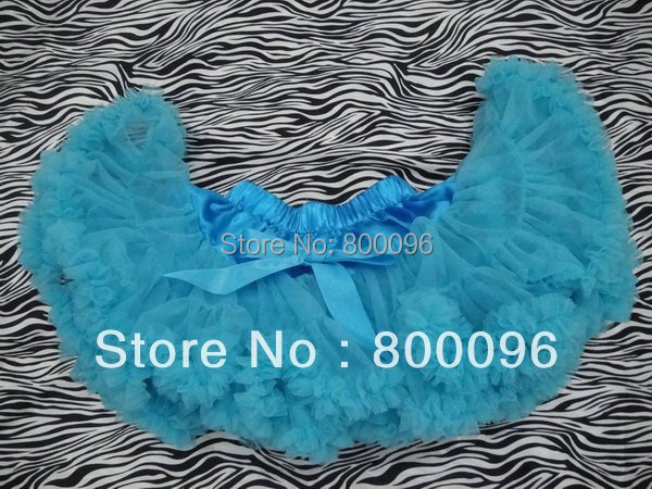 Wholesale Tutu Skirt for Baby with Bow  Aqua Blue Tutu of Skirts Girls Pettiskirt PETS-013