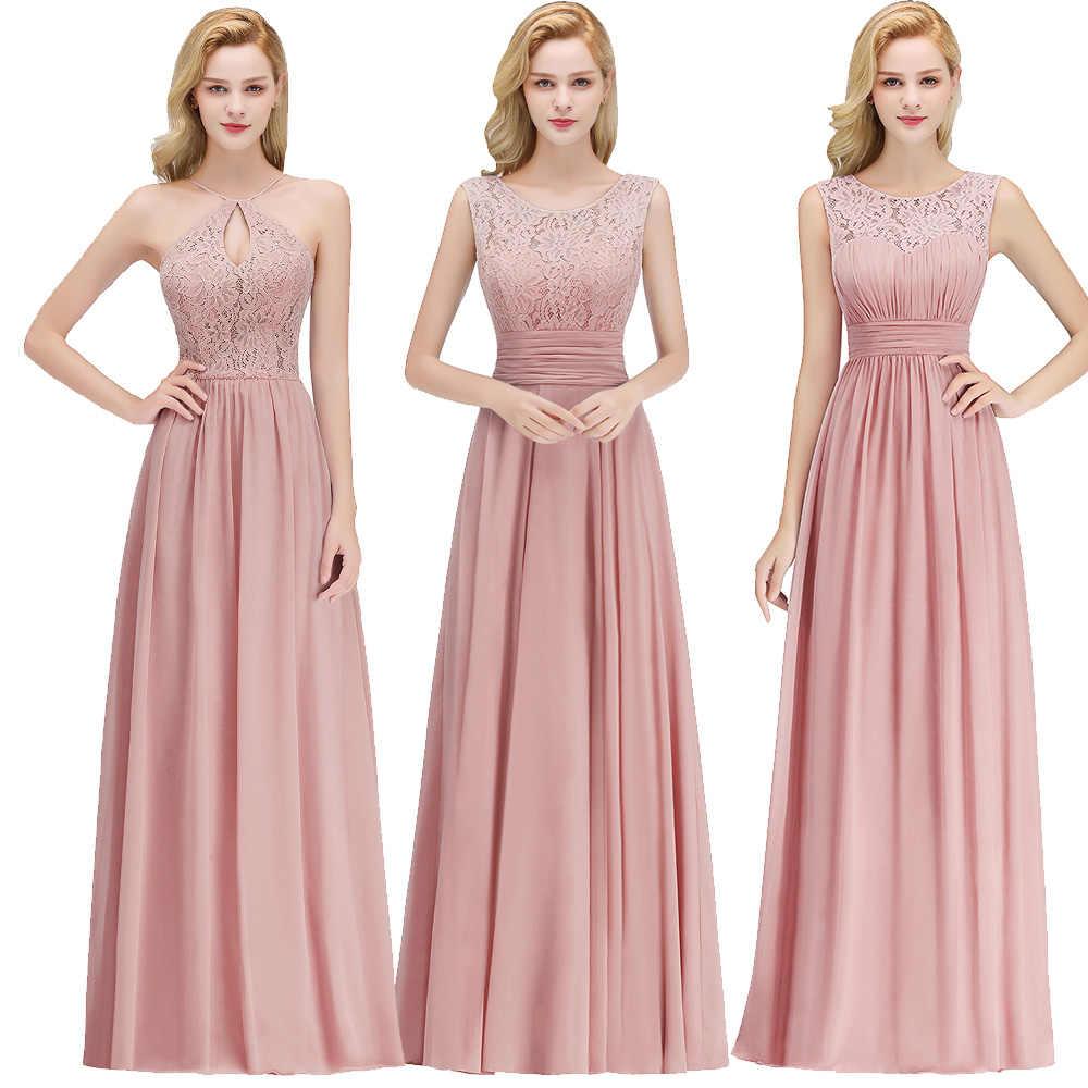 670eb715aef Vestidos de festa Evening Dress Robe De Soiree Long Chiffon Party Evening  Dresses 2019 Dusty pink