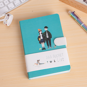Image 5 - חמוד Kawaii מחברת 365 דלי לרשימת ספרי יד A5 מתכנן יומן סדר יום יומן מחברת נוסעי כתיבה
